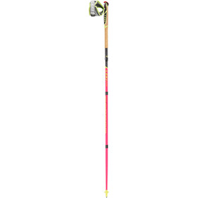 LEKI Micro Trail Pro Bâtons de trail running pliable, neon pink/grey/neon yellow